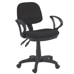 Martin Vesuvio Adjustable-height Contoured Desk Chair in Black