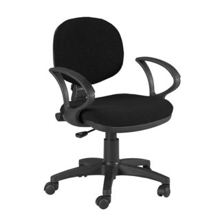 Martin Stanford Black Rolling Padded Desk-height Office Chair