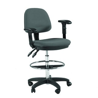 Martin Feng Shui Drafting Height Chair in Grey