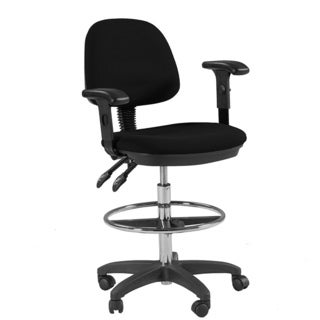 Martin Feng Shui Drafting Height Chair in Black