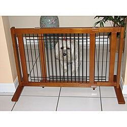 Crown Pet Chestnut Brown Wood and Wire Gate 27