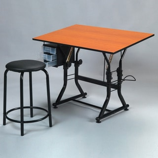 Martin Ashley Creative Drafting and Hobby Craft Table with Stool Set