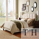 TRIBECCA HOME Sarajevo Beige Fabric Column Full-size Bed