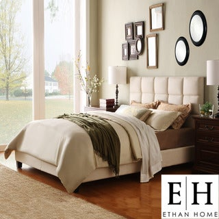 ETHAN HOME Sarajevo Queen-Sized Beige Upholstered Bed