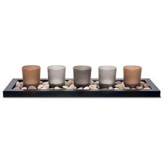 Sarah Peyton 5-piece Earth Tone Candle Tray Set