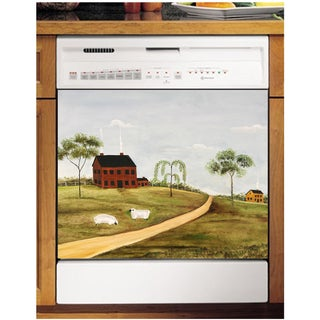 Appliance Art Grazing Sheep Dishwasher Cover Panel