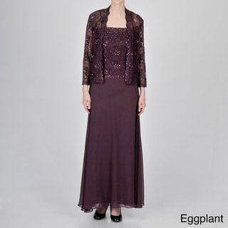 Ignite Evening Women's Lace Jacket Dress