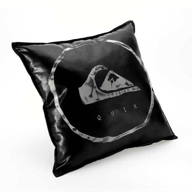 Quiksilver Rogue Black Vinyl Decorative Pillow