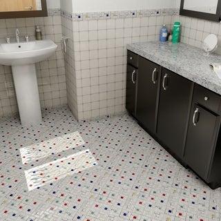 "Somertile Tuscan Spiral Cascade Ceramic Mosaic Tiles 12"" x 12"" Each (Pack of 10)"