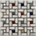 Somertile Tuscan Spiral Cascade Ceramic Mosaic Tiles 12