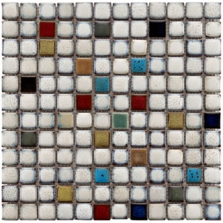 Somertile Tuscan Spiral Cascade Ceramic Mosaic Tiles (Pack of 10)