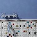 Somertile Tuscan Spiral Cascade Ceramic Mosaic Tiles (Pack of 10)