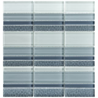 Somertile Reflections 1-inch Meridian Cirrus Glass Mosaic Tiles (Pack of 10)