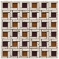 Somertile Reflections Cubic Sienna Glass/ Stone Mosaic Tiles (Pack of 10)