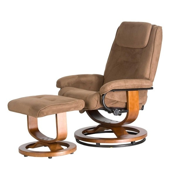 Comfort Products Relaxzen Deluxe Padded Microfiber Massage Recliner (Brown)(As Is Item)