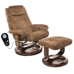 Comfort Products Relaxzen Deluxe Padded Microfiber Massage Recliner