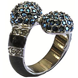 Michelle Monroe Blue Crystal and Enamel Ring Made with SWAROVSKI Elements