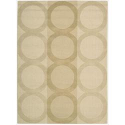 Nourison Hand-tufted Panache Beige Wool Rug (8' x 11')