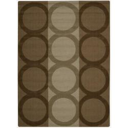 Nourison Hand-tufted Panache Chocolate Wool Rug (3'6 x 5'6)