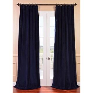 Signature Federal Blue Velvet 84-inch Blackout Curtain Panel