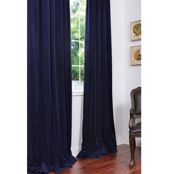 Signature Federal Blue Velvet 120-inch Blackout Curtain Panel
