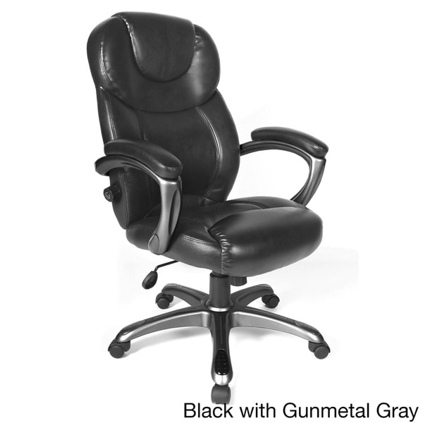 Leather Executive Chair Office Desk Computer High Back Lumbar Armrests