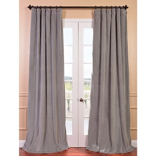 Signature Silver Grey Velvet Blackout Curtain Panel