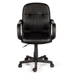 Comfort Products Mid-Back Black Leather Office Chair
