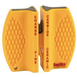 Case Cutlery Yellow Synthetic Peanut Knife and Sharpener