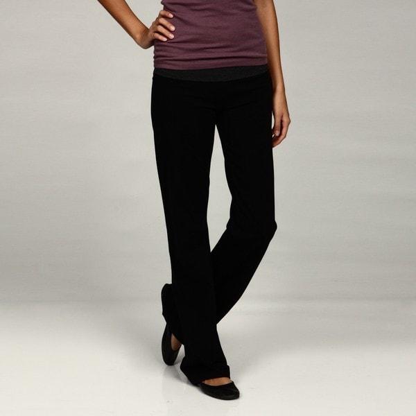 Calvin Klein Women's Roll-over Waistband Long Yoga Pants
