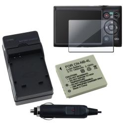 INSTEN Clear Screen Protector/ Battery/ Charger Set for Canon 300 HS/ 220