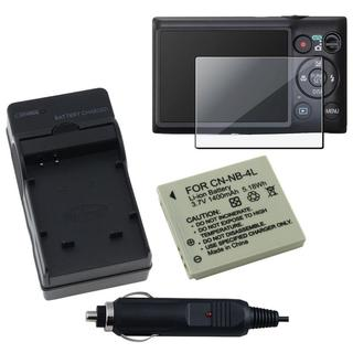 Screen Protector/ Battery/ Charger Set for Canon 300 HS/ 220