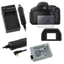 Glass Screen/ Remote/ Battery/ Charger/ Eyecup for Canon 600D/ T3i