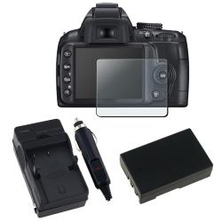 INSTEN Clear Screen Protector/ Battery/ Charger for Nikon D3000