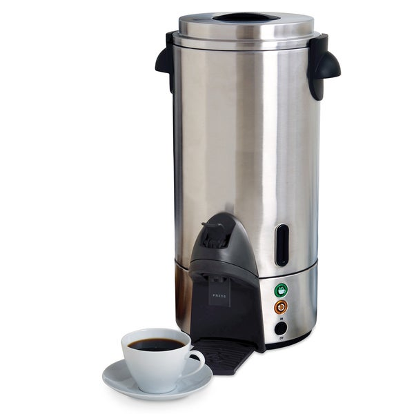 West Bend 54100 100-Cup Commercial Coffee Maker, Stainless Steel 8323394