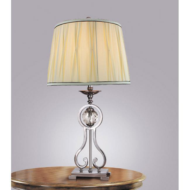 crystal ball fabric shade table lamp overstock shopping great. Black Bedroom Furniture Sets. Home Design Ideas
