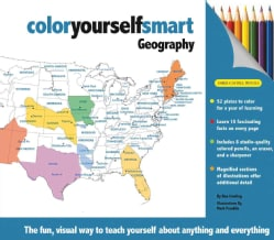 Color Yourself Smart: Geography, The Fun Visual Way to Teach Yourself About Anything and Everything (Hardcover)
