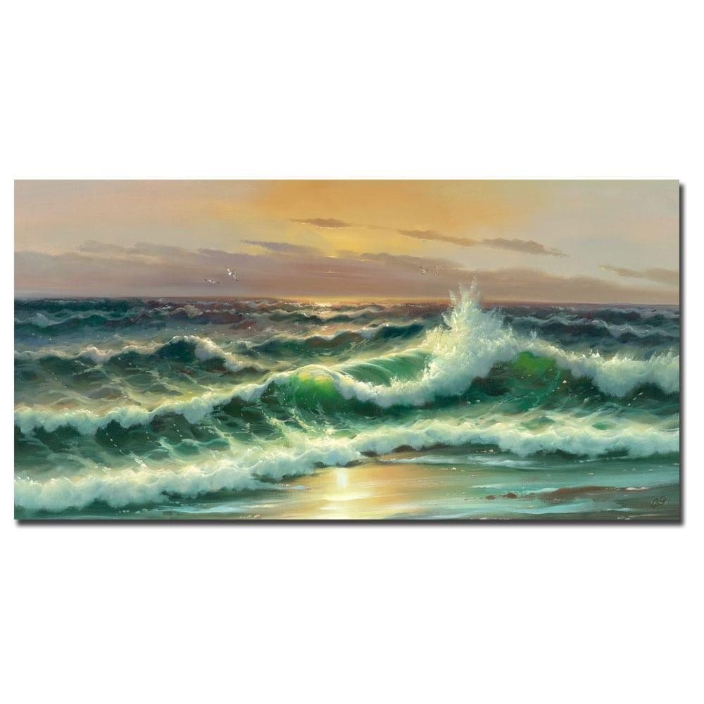 Rio 'Waves I' Canvas Art