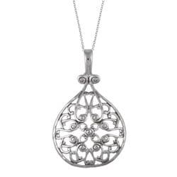 La Preciosa Sterling Silver Filigree Circle Necklace