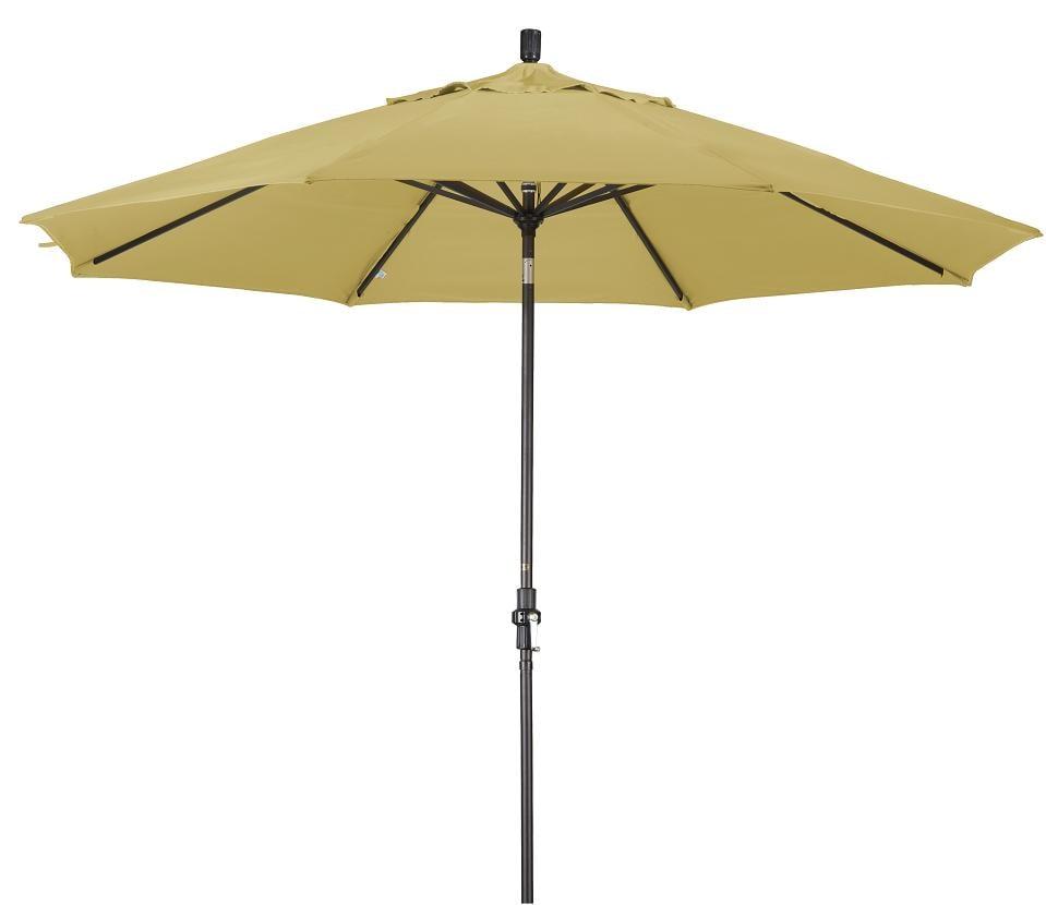 Alluminum 11 ft Wheat Patio Umbrella with Sunbrella