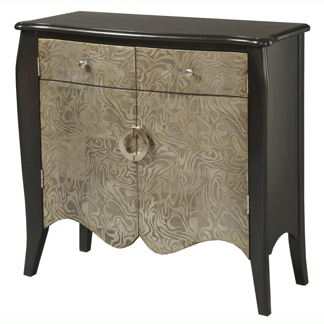 Hand-painted Black Pewter Accent Chest
