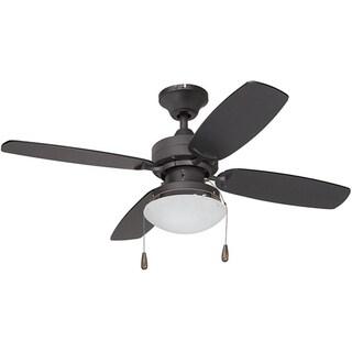 Contemporary Bronze Single-light Ceiling Fan