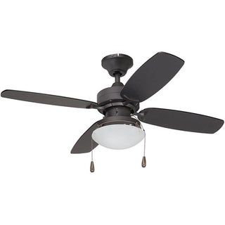 Contemporary Bronze Single-light Ceiling Fan