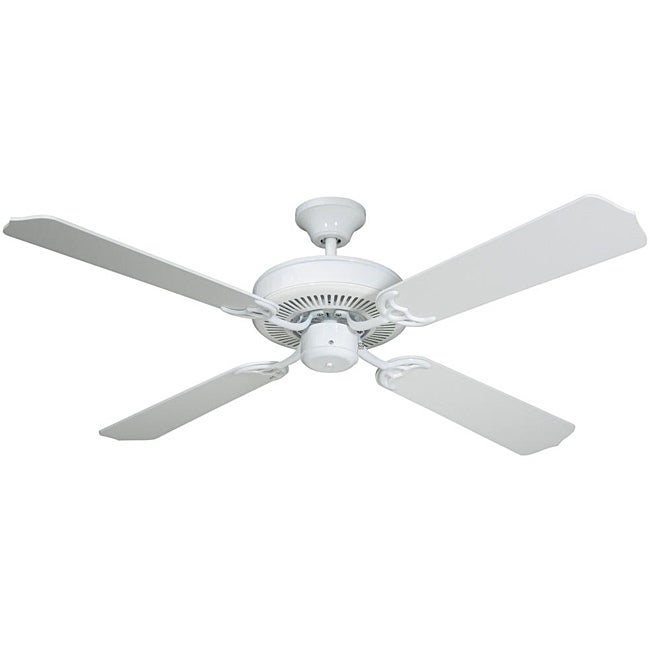 Transitional White Ceiling Fan