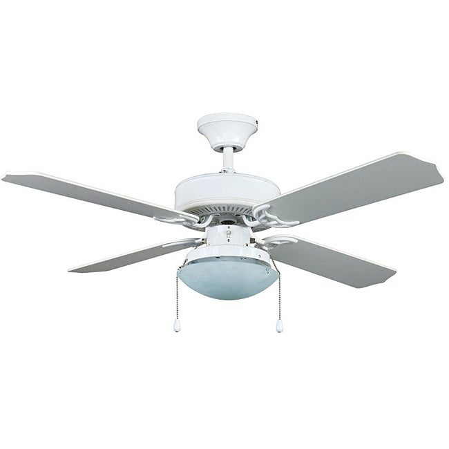Aztec Lighting Transitional White One-Light Ceiling Fan at Sears.com