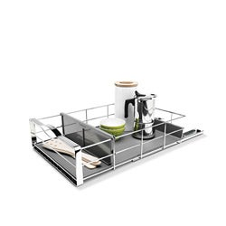 simplehuman 14-in Pull-out Stainless Steel Cabinet Organizer