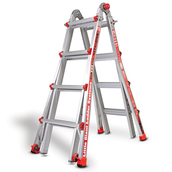 Little Giant Alta-One 15 ft. Multi-use Aluminum Type 1 Ladder
