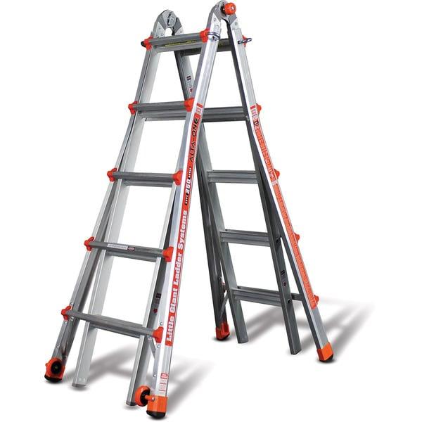 Little Giant Alta-One 19 ft. Multi-Use Aluminum Type 1 Ladder