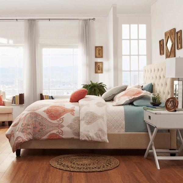 TRIBECCA HOME Sophie Tufted King Upholstered Bed