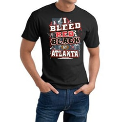 Men's Atlanta Falcons Football Team 'I Bleed Red and Black' Cotton Tee